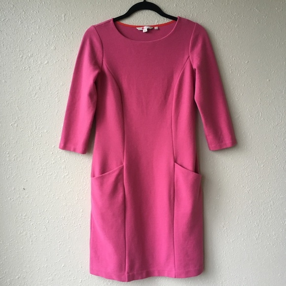 a44b2ab4bad Boden Dresses   Skirts - Boden Fuchsia Ribbed Ottoman Shift Dress